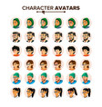 business people avatar set man woman vector image vector image