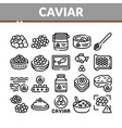 caviar seafood product collection icons set vector image vector image