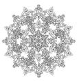 Circle Christmas balls ornament vector image vector image