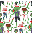 colorful zombie scary cartoon halloween magic vector image vector image