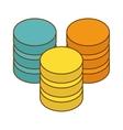 database hosting icon image design vector image vector image