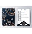 Design menu background pizza for restaurant or vector image vector image