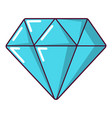 diamond icon cartoon style vector image