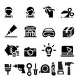 diy workshop craftsman craft icon set vector image vector image