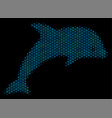 dolphin collage icon of halftone bubbles vector image