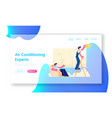 electrician call master at work website landing vector image vector image