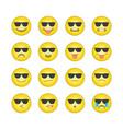 emoticon smile icons set 13 vector image vector image