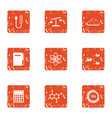 endorphin icons set grunge style vector image vector image