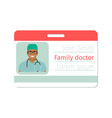 family doctor medical specialist badge vector image vector image