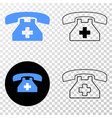 first aid phone eps icon with contour vector image vector image