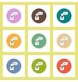 flat icons set of progress statistics and man vector image vector image