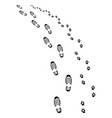 footprints man and dog vector image vector image