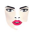 glamor girl on white background vector image