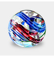 Glass marbles vector image