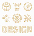 graphic designer badges and logos vector image vector image