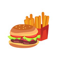 hamburger and french fries vector image