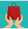 hands holding a shopping bag vector image