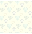 Heart pattern in pastel colors vector image vector image