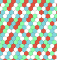 hexagon seamless background vector image vector image