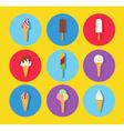 Ice cream icon set vector image vector image