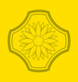 logo of flower on yellow background flower emblem vector image vector image