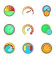 Measurement symbol icons set cartoon style vector image vector image