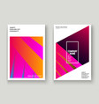 minimal cover set design neon blurred pink vector image