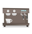 Modern coffee machine vector image