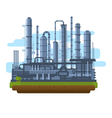 Oil Production Plant vector image vector image
