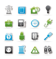 Power energy and electricity icons vector image