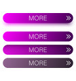 purple more web buttons isolated on white vector image vector image