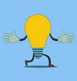 quick idea a running light bulb vector image