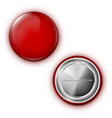 realistic red blank badge pin on white background vector image