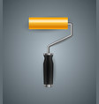 realistic roller paint info vector image