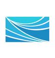 rectangle aqua icon vector image
