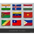 Riveted the country flag wrinkled vector image vector image