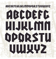 Sans serif geometric font in gothic style vector image vector image