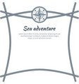 sea adventure colorful card vector image