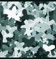 seamless digital snow tundra spot camo texture for vector image vector image