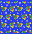 seamless wrapping paper and colored christmas tree vector image vector image