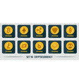set of icons of different exchange cryptocurrency vector image vector image