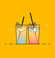 shakes vector image vector image