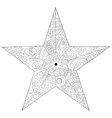 Star coloring for adults vector image
