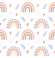 trendy hand drawn print with rainbow in boho vector image vector image