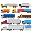 Trucks and trailers vector image vector image