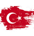 turkish scratched flag vector image vector image