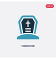 two color tombstone icon from religion concept vector image vector image