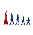 walk with jesus follow jesus graphic vector image vector image