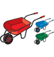 Wheelbarrows vector image vector image