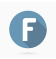 White letter F Icon With Flat Design vector image vector image